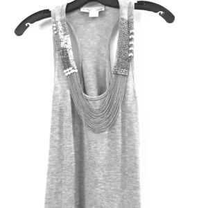 """Racerback fancy tank top with chain """"necklace"""""""